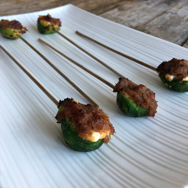 KETO BRUSSELS SPROUT LOLLIPOPS
