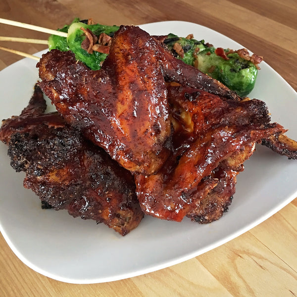 KETO BARBECUE GLAZED CHICKEN WINGS