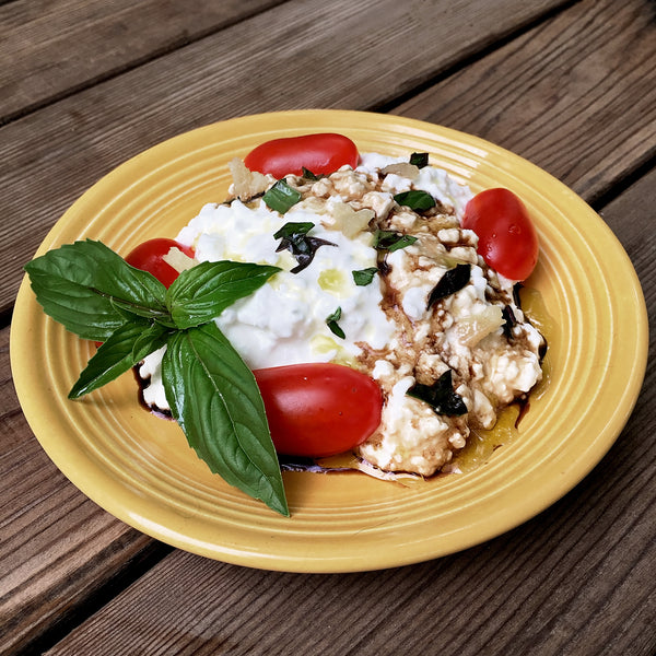 KETO COTTAGE CHEESE CAPRESE