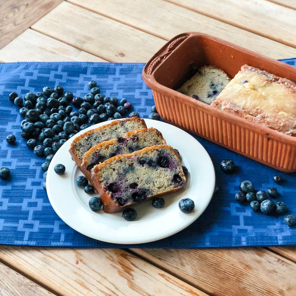 KETO LEMON GLAZED BLUEBERRY BREAD
