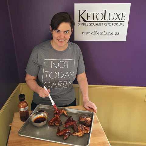KETO BARBECUE GLAZED CHICKEN WINGS BY CHEF ALEXA OF KETOLUXE