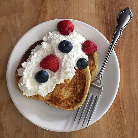 Keto Fluffy Pancakes by Chef Alexa of KetoLuxe
