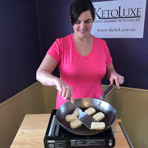 KETO HALLOUMI WITH RELISH BY CHEF ALEXA OF KETOLUXE
