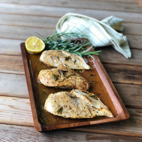 Lemon Rosemary Chicken packs in fresh flavors thanks to fresh herbs and fruit