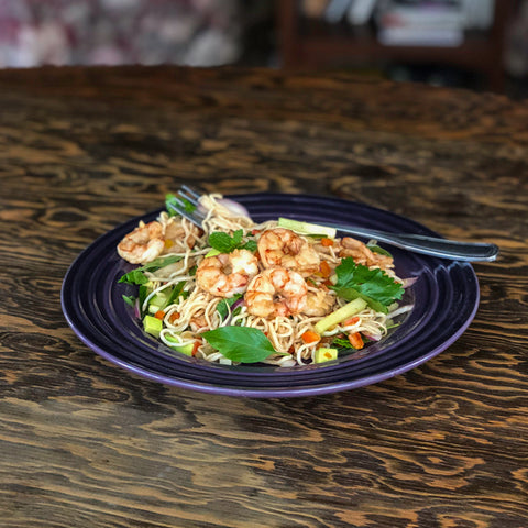 KETO THAI SHRIMP AND NOODLES BY CHEF ALEXA OF KETOLUXE