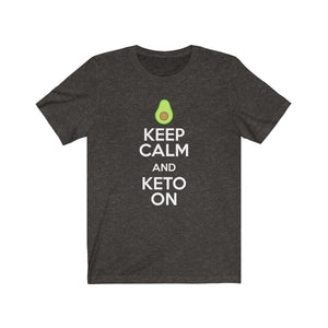 Keep Calm and Keto On Avocado - Unisex Jersey Short Sleeve Tee