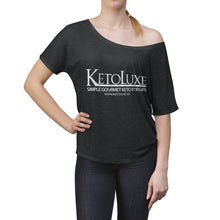Load image into Gallery viewer, Washed & Worn KetoLuxe Logo Shirt - Women's Slouchy top
