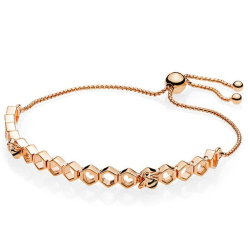 Sweet Honey-Schakelarmband dames-Rose Gold-TrendBody