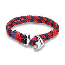 Afbeelding in Gallery-weergave laden, Nautical Rope-Touw armband heren-Flame Red-TrendBody