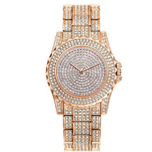 Afbeelding in Gallery-weergave laden, Femin Diamond-Analoog horloge dames-Diamant horloge dames-Rose gold-TrendBody