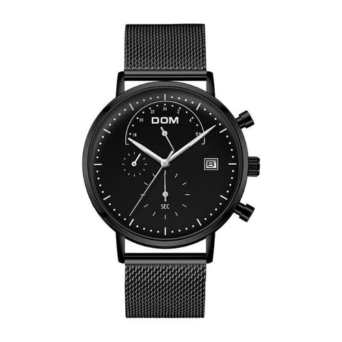 Excess Collar-Chronograaf horloge heren-Space Black-TrendBody