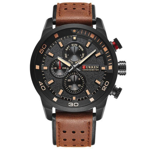 Layer Spoil-Chronograaf horloge heren-Desert Black-TrendBody