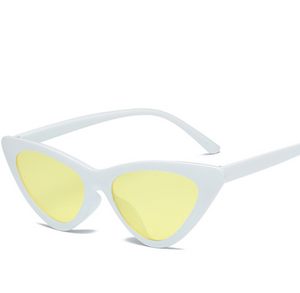 Cat Frame-Cat eye zonnebril dames-Cat eye zonnebril-Snow Yellow-TrendBody
