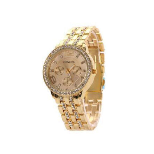 Exquisite Rhinestone-Chronograaf horloge dames-Rose Gold-TrendBody