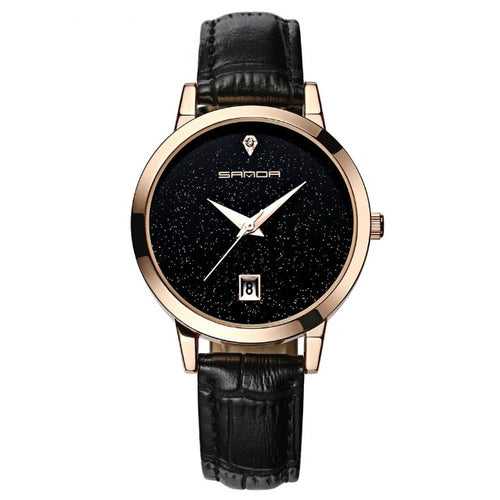 Shiny Gloss-Analoog horloge dames-Space Black-TrendBody
