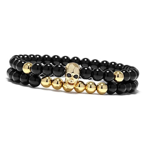 Chakra Skeleton-Kralen armband heren-Royal Gold-TrendBody