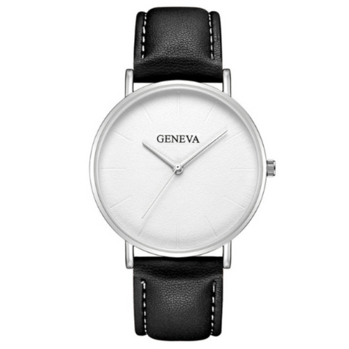Mister Minimal-Analoog horloge heren-Space White-TrendBody
