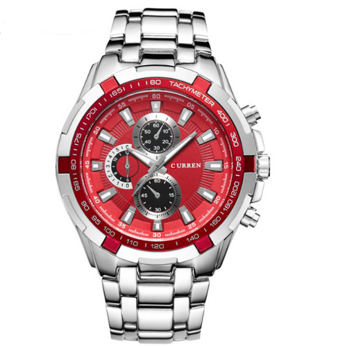 Midnight Snatch-Chronograaf horloge heren-Platinum Red-TrendBody