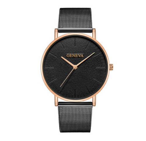 Montre Femme-Analoog horloge dames-Midnight Rose-TrendBody