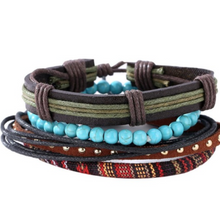 Afbeelding in Gallery-weergave laden, Retro Set-Leren armband heren-Variant 14-TrendBody