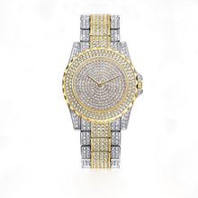 Afbeelding in Gallery-weergave laden, Femin Diamond-Analoog horloge dames-Diamant horloge dames-Platinum Gold-TrendBody