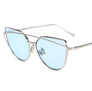 Cat Stop-Cat eye zonnebril dames-Platinum Sky Blue-TrendBody