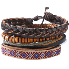 Afbeelding in Gallery-weergave laden, Retro Set-Leren armband heren-Variant 13-TrendBody
