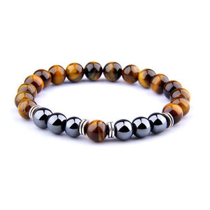 Tiger Eye-Kralen armband heren-21cm (Medium)-TrendBody