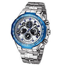 Load image into Gallery viewer, Thin Prove-Chronograaf horloge heren-Robuust horloge heren-Platinum Blue-TrendBody