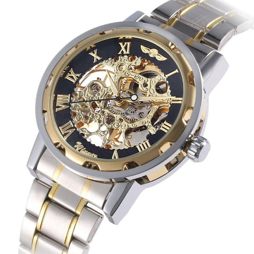 Casual Space-Analoog horloge heren-Platinum Gold-TrendBody