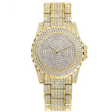 Afbeelding in Gallery-weergave laden, Femin Diamond-Analoog horloge dames-Diamant horloge dames-Royal Gold-TrendBody