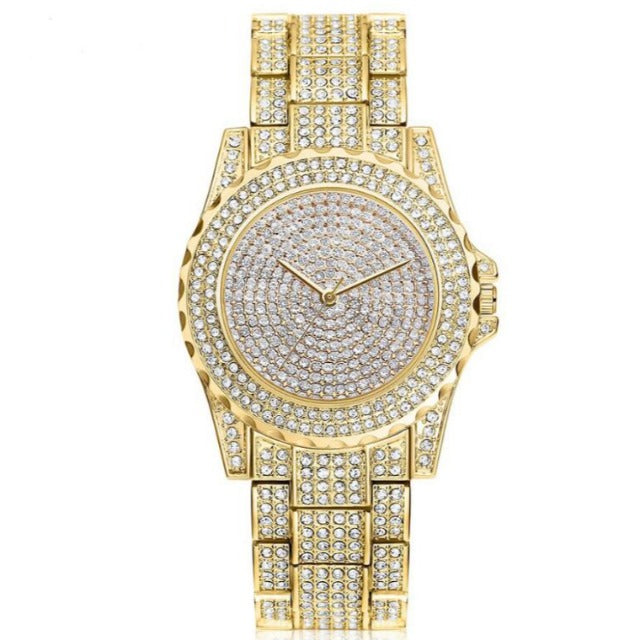 Femin Diamond-Analoog horloge dames-Diamant horloge dames-Royal Gold-TrendBody