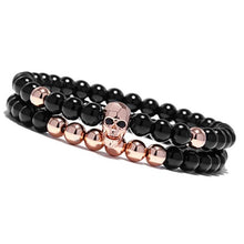 Load image into Gallery viewer, Chakra Skeleton-Kralen armband heren-Kralen armband-Rose Gold-TrendBody