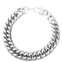 Load image into Gallery viewer, Cuban Punk-Slavenarmband heren-Slaven armband-Platinum Silver-TrendBody