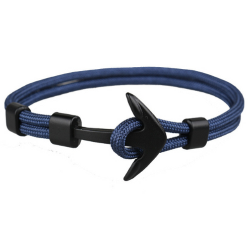 Captain Anchor-Touw armband heren-Navy Blue-TrendBody
