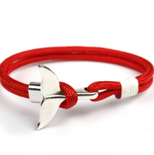 Afbeelding in Gallery-weergave laden, Anchor Whale-Touw armband heren-Touw armband-Flame Red-TrendBody