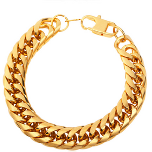 Cuban Punk-Slavenarmband heren-Slaven armband-Royal Gold-TrendBody