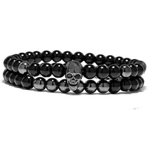 Afbeelding in Gallery-weergave laden, Chakra Skeleton-Kralen armband heren-Kralen armband-Space Black-TrendBody