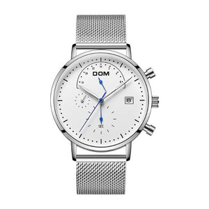 Excess Collar-Chronograaf horloge heren-Platinum White-TrendBody