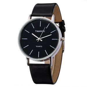 Slaying Queen-Analoog horloge dames-Leren horloge dames-Space Black-TrendBody