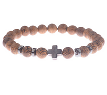 Afbeelding in Gallery-weergave laden, Wood grain bead bracelet-Heren Armband-13style-TrendBody