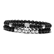 Load image into Gallery viewer, Chakra Skeleton-Kralen armband heren-Kralen armband-Platinum Silver-TrendBody