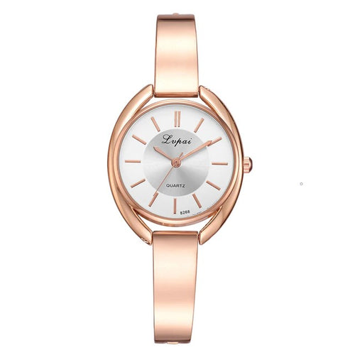 Polished Luxe-Analoog horloge dames-Rose White-TrendBody