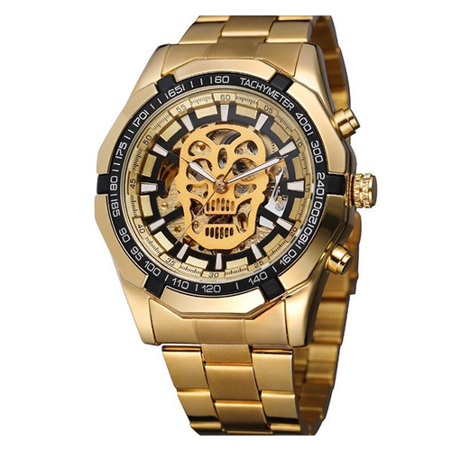 Crude Skull-Analoog horloge heren-Royal Gold-TrendBody