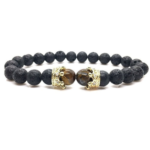 Royal Force-Kralen armband heren-Lava Gold-TrendBody