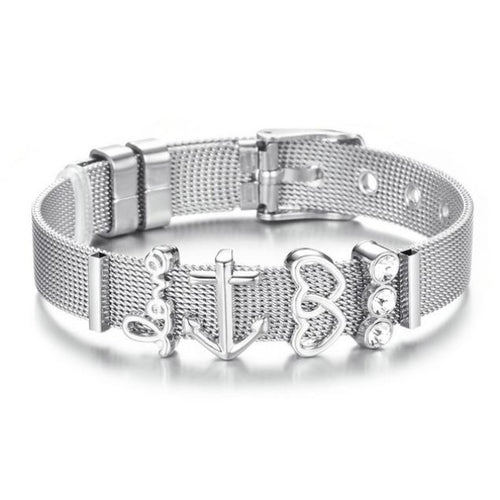 Robust Love-Slavenarmband dames-Platinum Silver Anchor-TrendBody