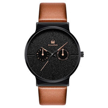 Afbeelding in Gallery-weergave laden, Dark Rust-Chronograaf horloge heren-Desert Black-TrendBody