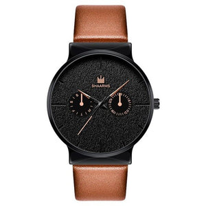 Dark Rust-Chronograaf horloge heren-Desert Black-TrendBody