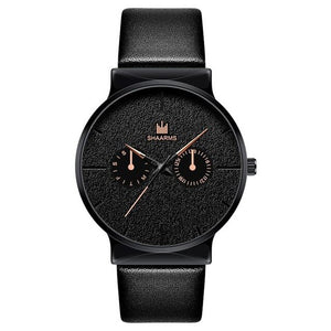 Dark Rust-Chronograaf horloge heren-Space Rose Gold-TrendBody