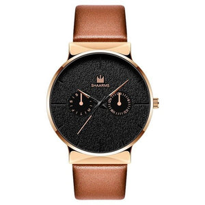 Dark Rust-Chronograaf horloge heren-Desert Gold-TrendBody